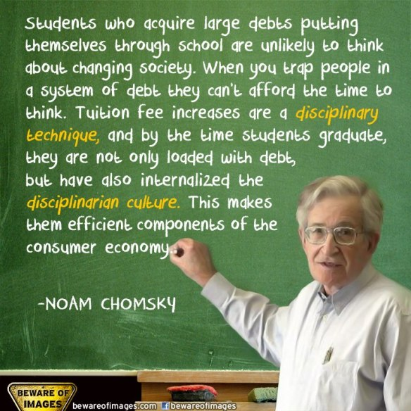 Chomsky on Debt  and College