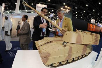 Selling Tanks!  Photo credit:  Ben Job/REUTERS