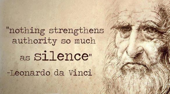 Leonardo da Vinci Silence Strengthens Authority