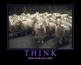 Think like sheep people